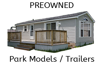 preowned trailers available at Holiday Pines Trailer park, near Peterborough Ontario