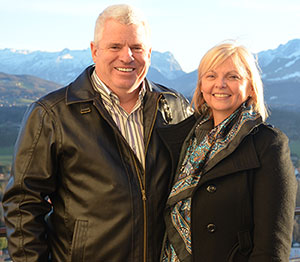 Wayne and Brenda Scott, owners of Holiday Pines Cottage Resort near Peterborough, Ontario